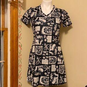 🖤Unique Comic Print Mini Dress - Vintage 90s